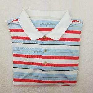 Nike Golf Dri Fit Striped Polo Shirt XL